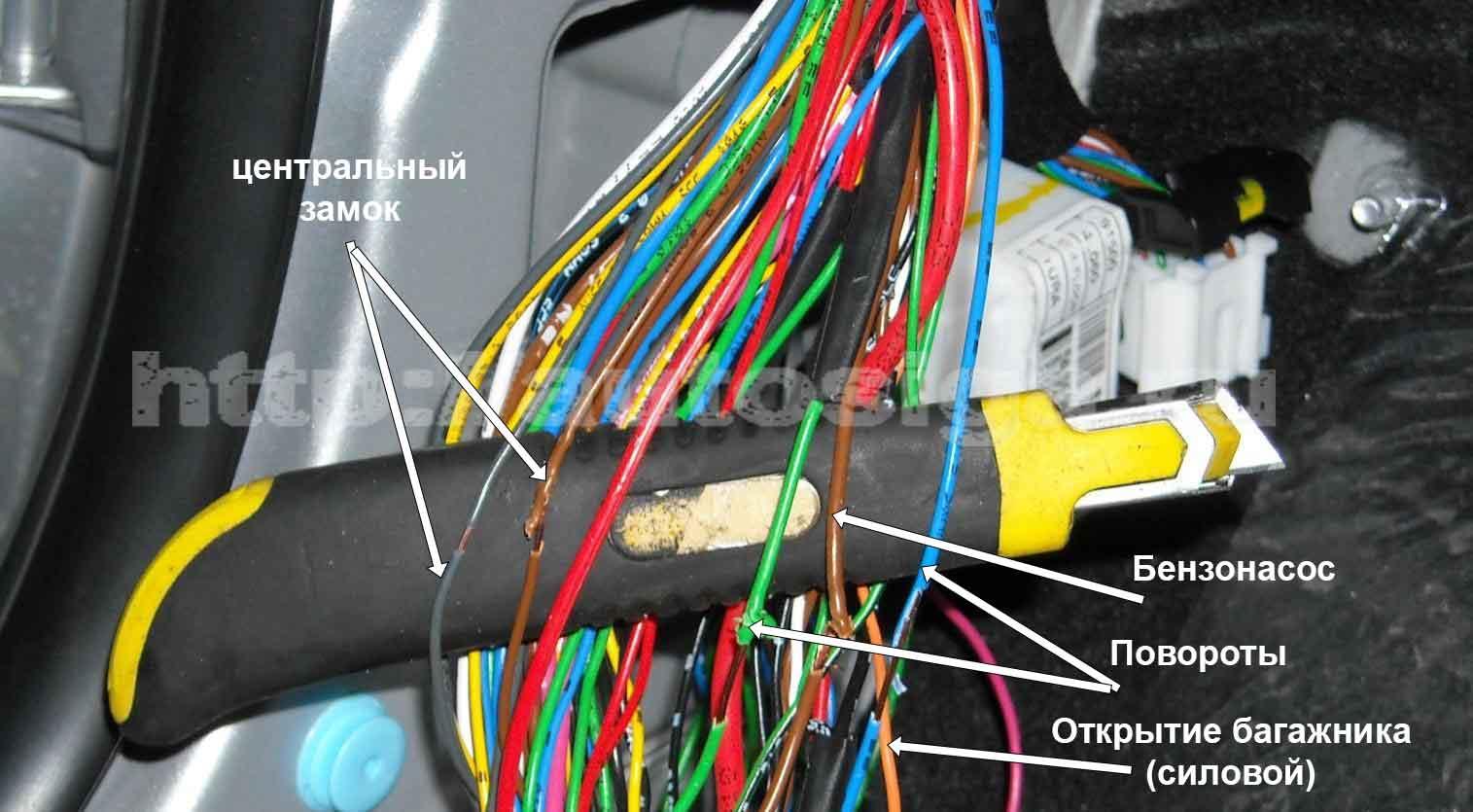 точки подключения сигнализации на транспортер