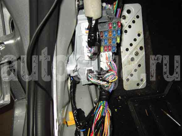 схема подключения сигнализации mazda 6 мкпп