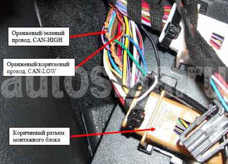 подключение сигнализации skoda octavia