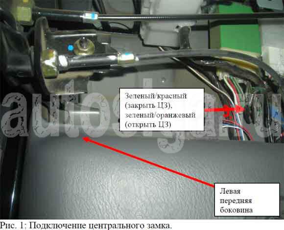 mazda bt-50 подключение сигнализации